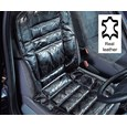 Black Leather Car Seat Cushion