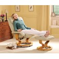 Leather Massage Recliner Chair and Footstool