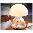 Beside Lamp and Clock Radio