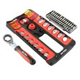 44-Piece Spanner and Screwdriver Bit and Socket Set