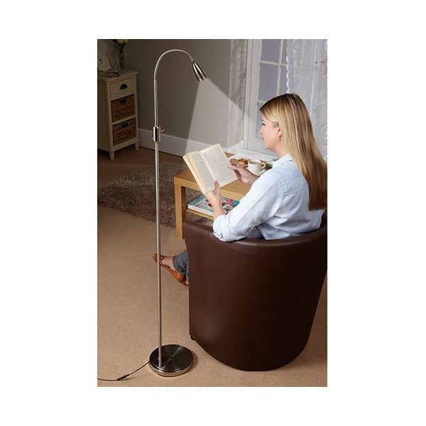 Led flexible daylight reading table with free floor lamp aloadofball Choice Image