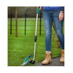 2-in-1 Cordless Grass Trimmer & Shears Telescopic Handle